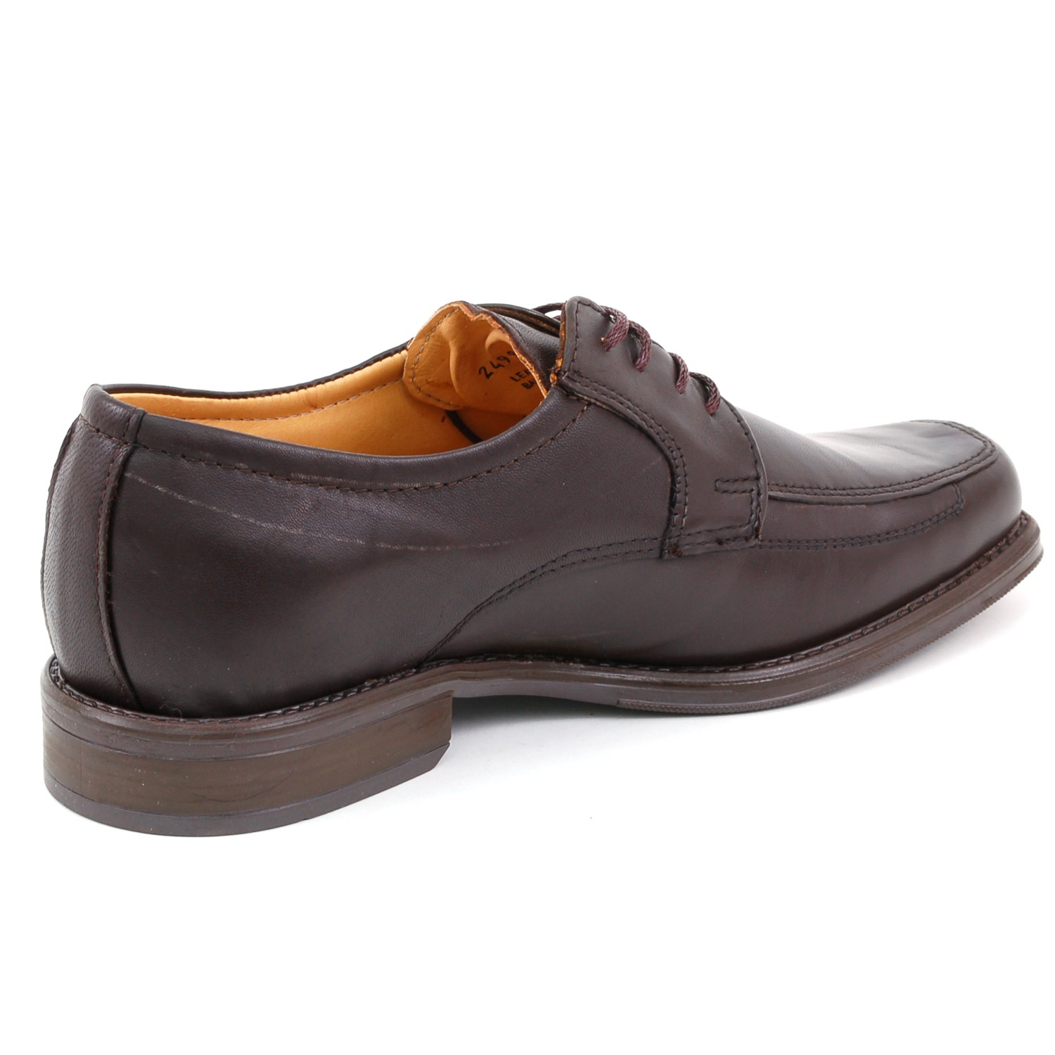 mens lace up oxfords dress shoes genuine leather moc toe