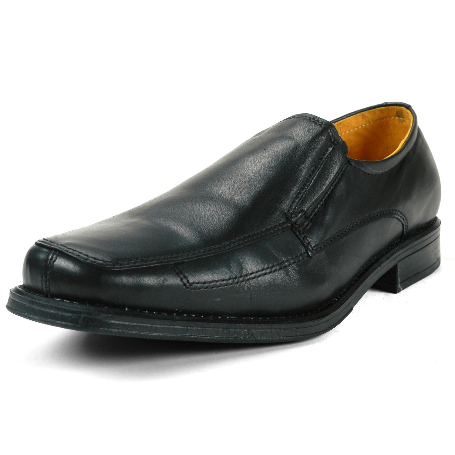 mens leather dress loafers slip on business suit casual