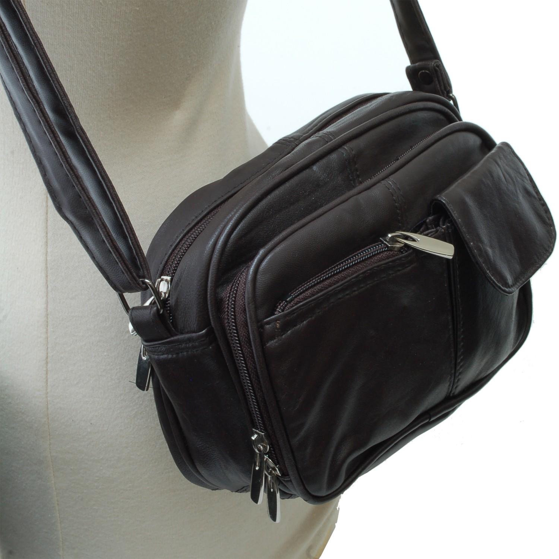 Womens Leather Organizer Purse Shoulder Bag Handbag Cross ...