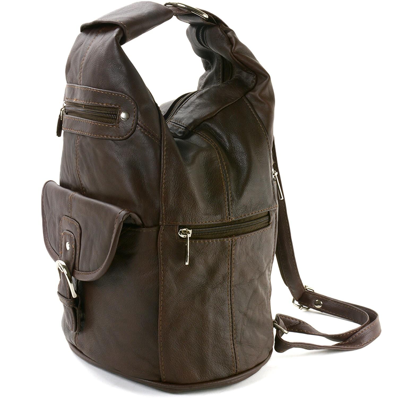 Womens Leather Backpack Purse Sling Shoulder Bag Handbag 3 ...