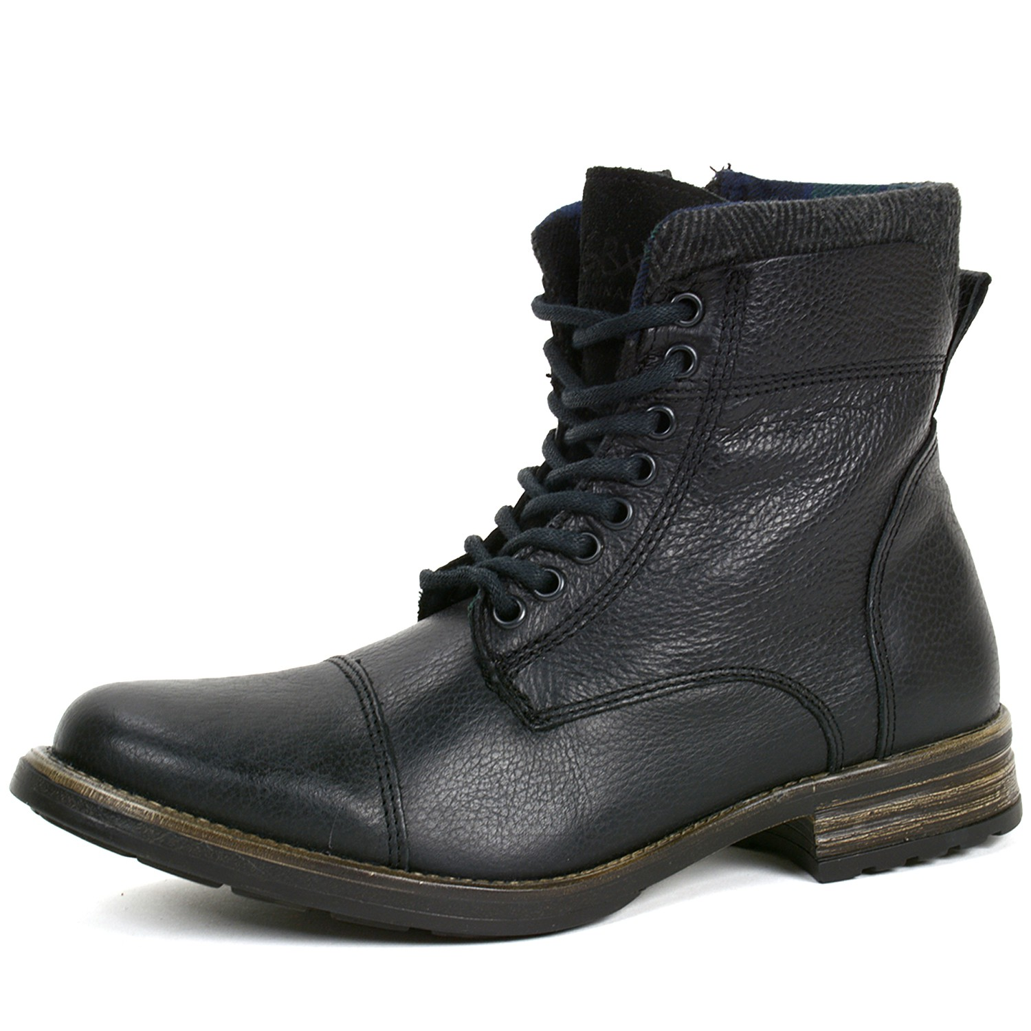 gbx mens tosh ankle high boots lace up combat style casual
