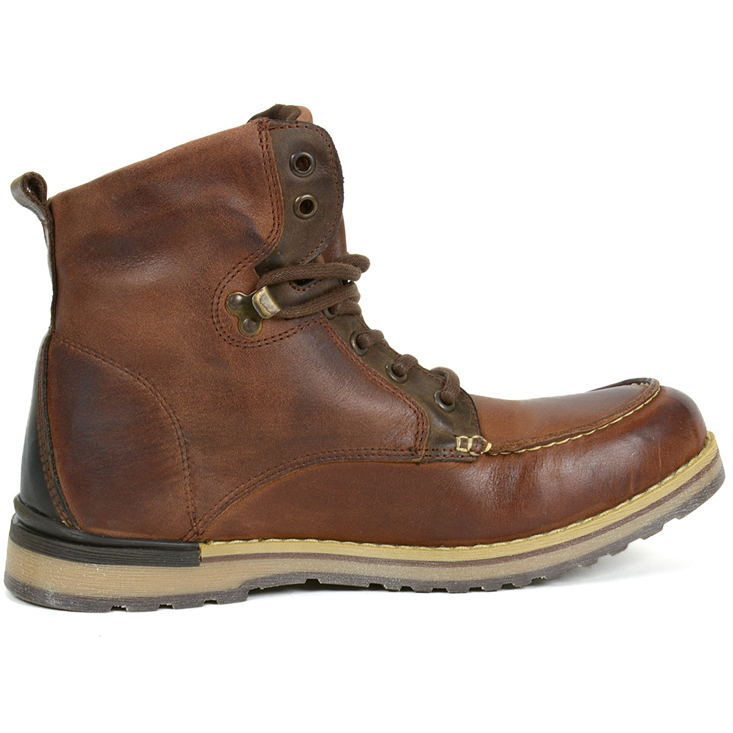 gbx mens draft boots genuine leather moc toe ankle high