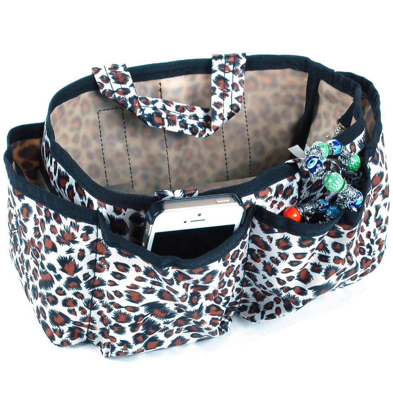 Womens handbag organizer insert multi functional cosmetic - Organizer purses and handbags ...