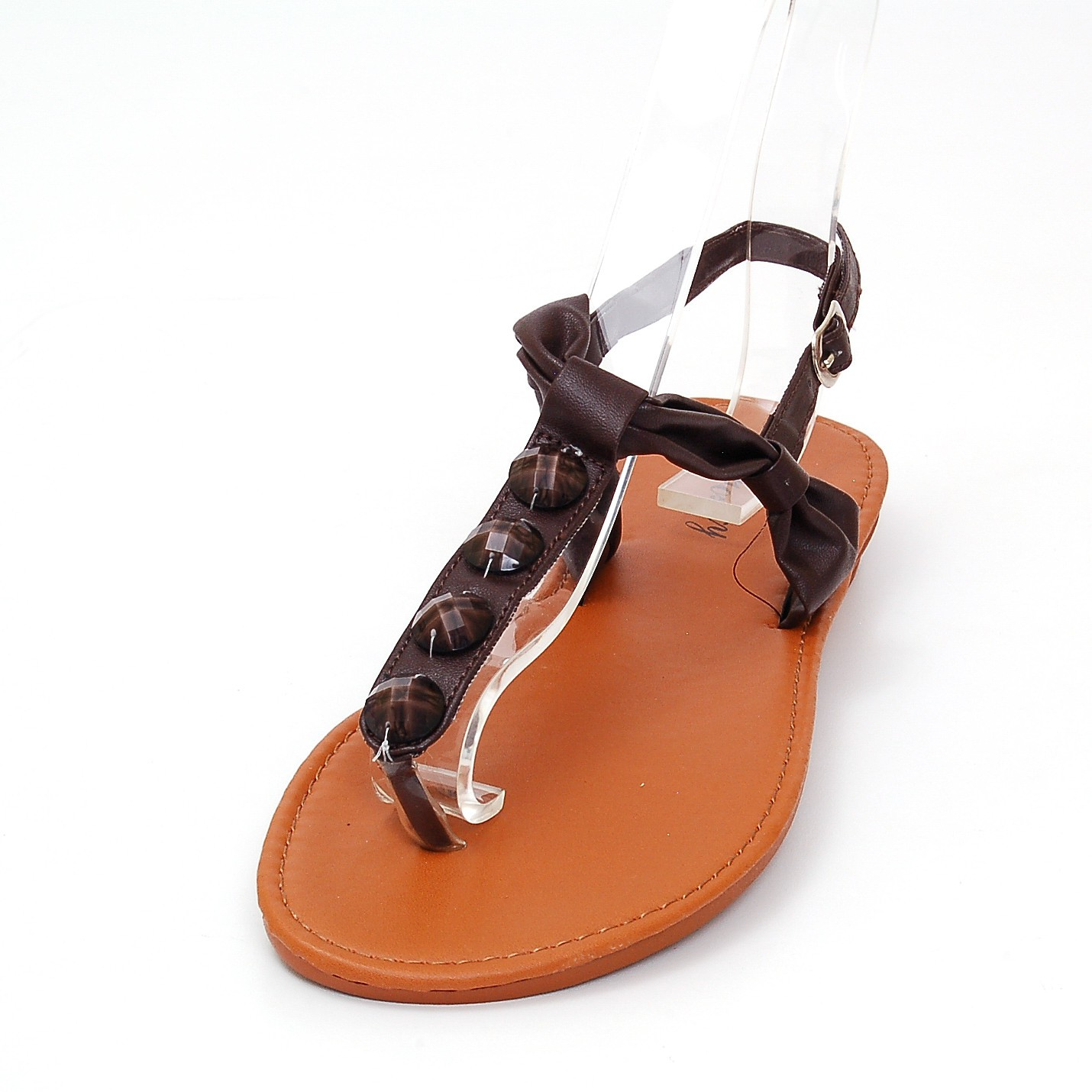 Popular Womens Gladiator Sandals TStrap Thongs Roman Flats Back Zipper Flip