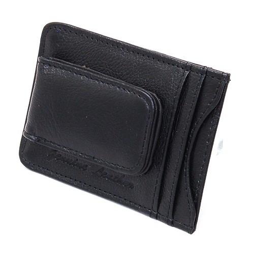 Mens Leather Money Clip Slim Front Pocket Wallet Magnetic ID Credit Card Holder