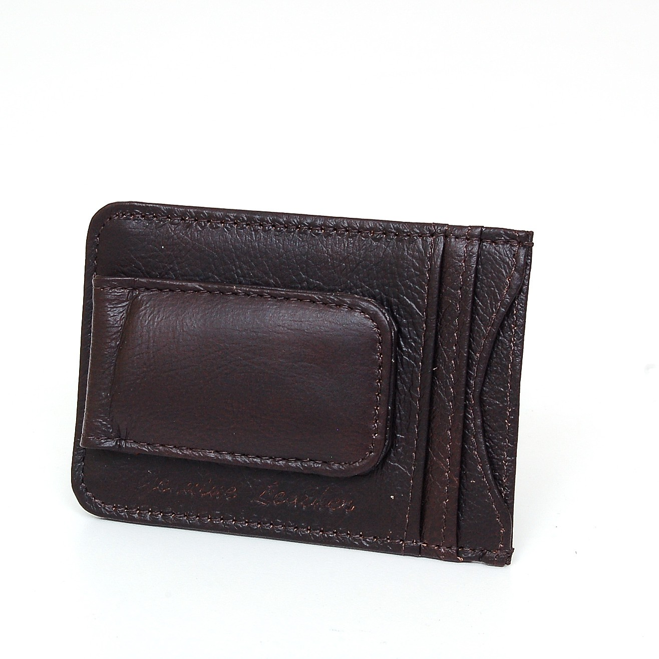 Motorcycle gloves with id pocket - Mens Leather Money Clip Slim Front Pocket Wallet
