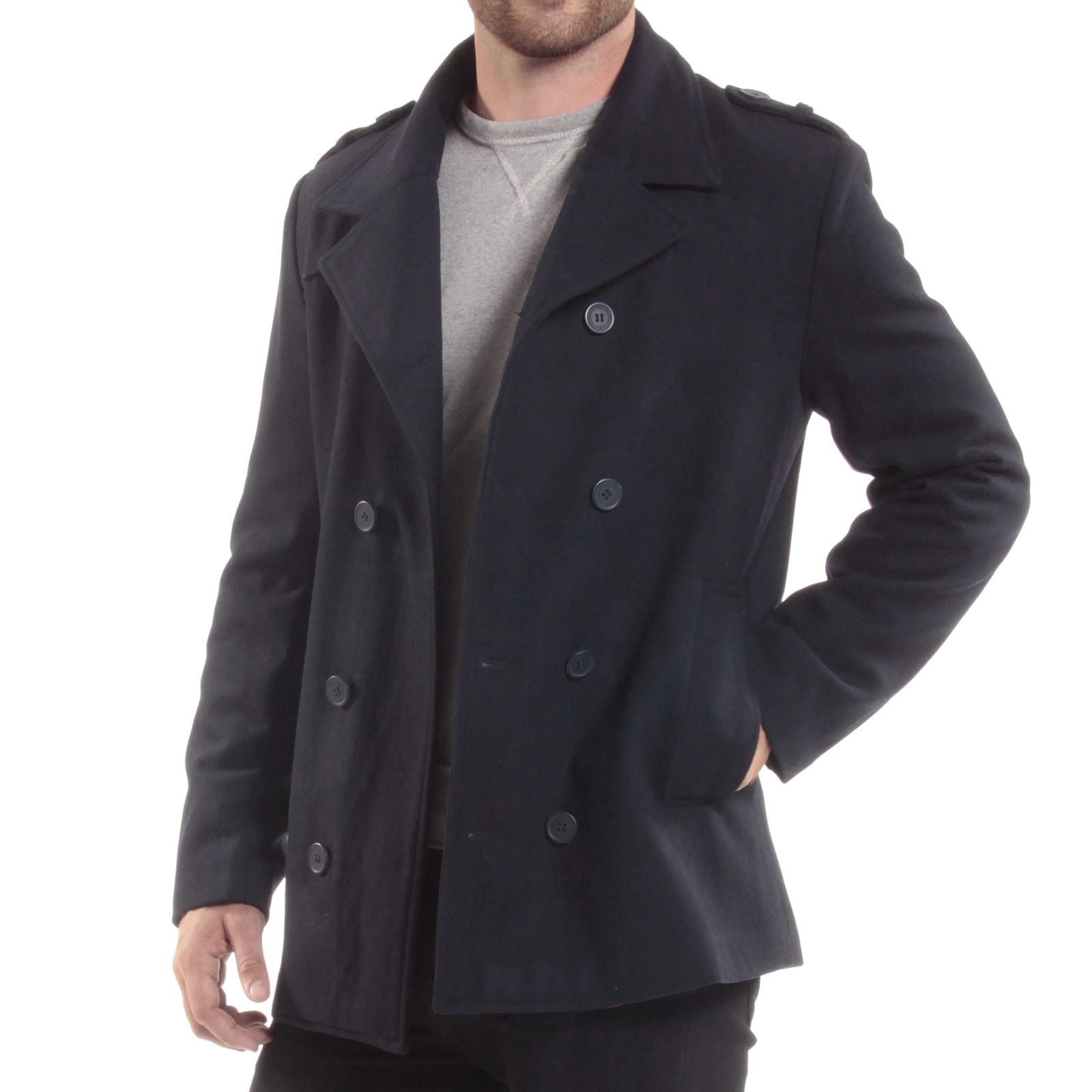 In addition to the selection of classic wool pea coats, you'll discover several options that feature cozy soft fleece and sweater knit construction for relaxed vibe. Old Navy offers an exceptional selection of these affordable layers that are shorter in length but tall on cool flair.