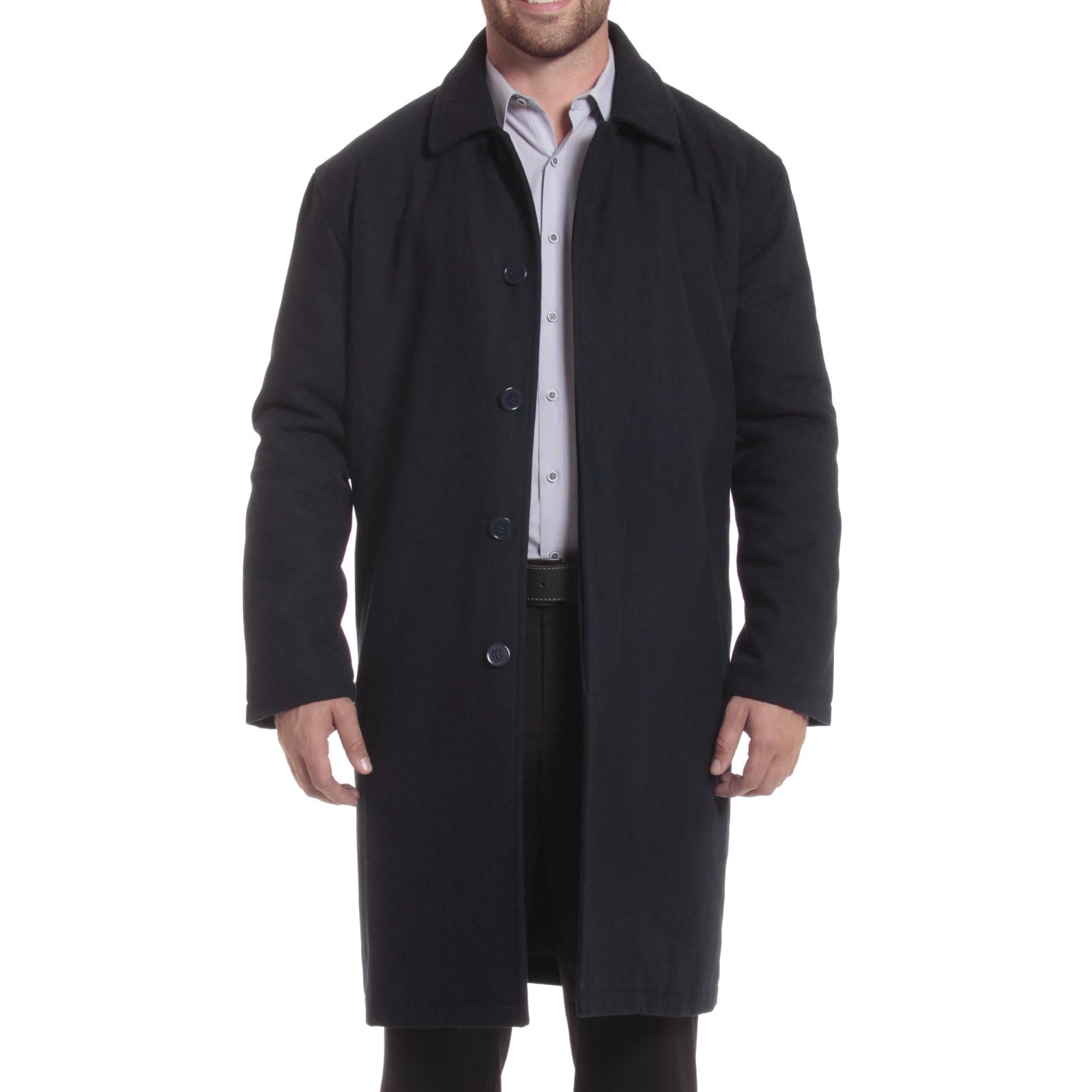Alpine Swiss Mens Zach Knee Length Jacket Top Coat Trench Wool Blend Overcoat