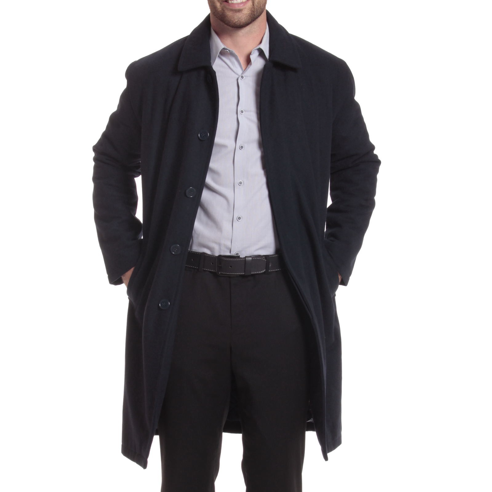 Alpine Swiss Men's Zach Knee Length Jacket Top Coat Trench Wool ...