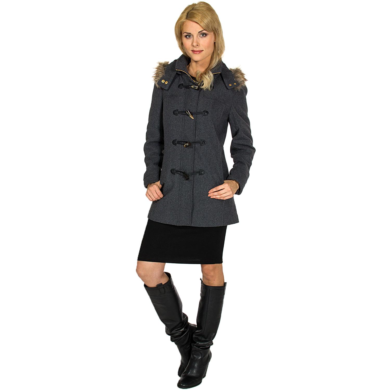 Alpine Swiss Duffy Women S Hooded Parka Fur Trim Wool Coat