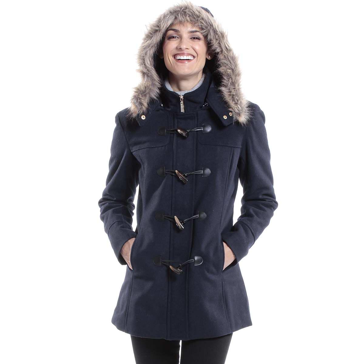 Hooded womens coat
