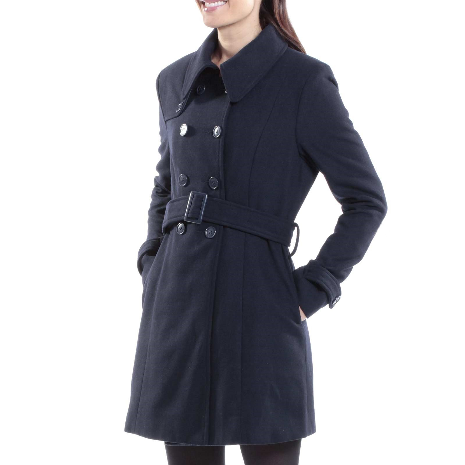 Double breasted trench coat women