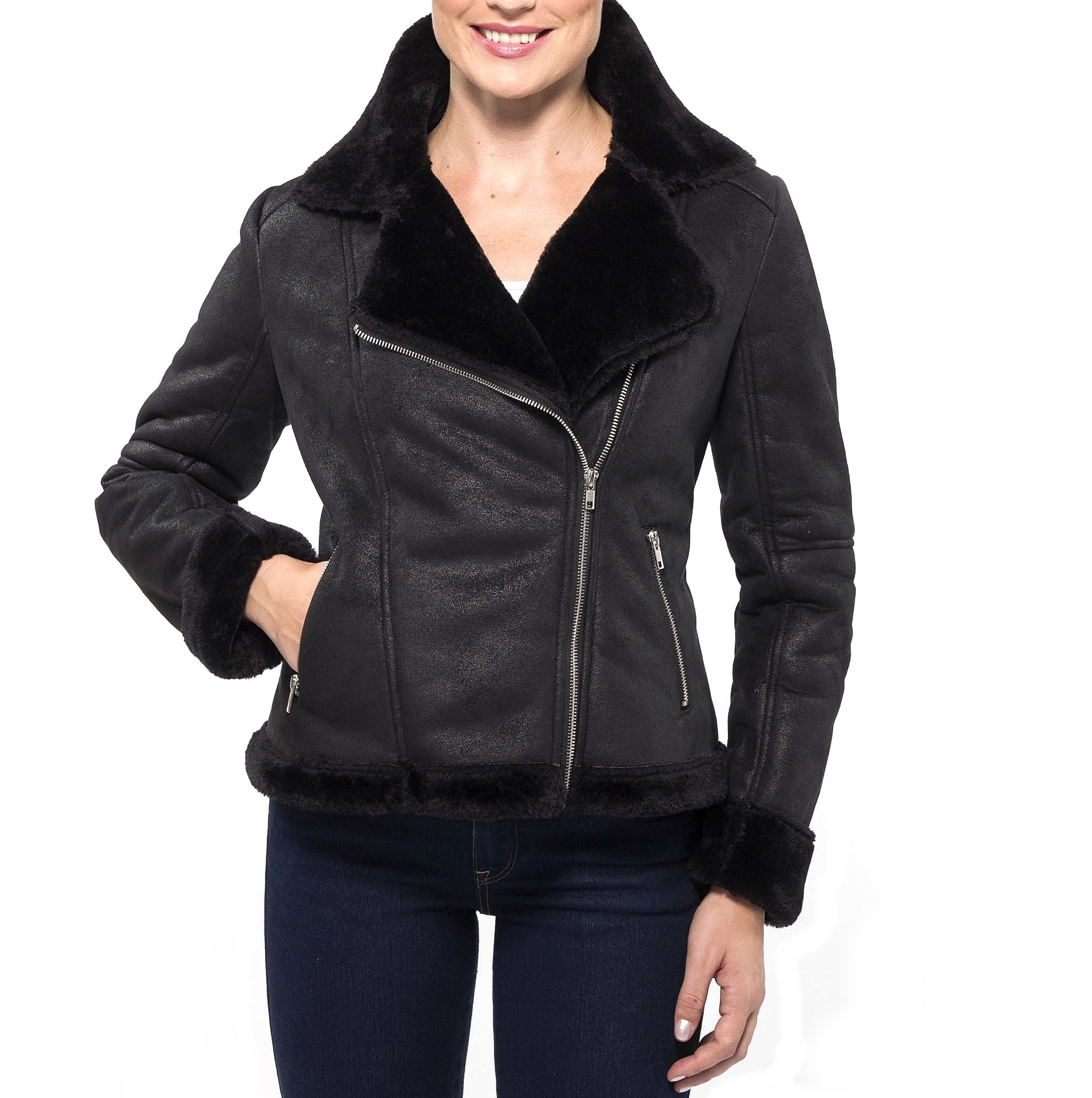 Shearling womens jacket