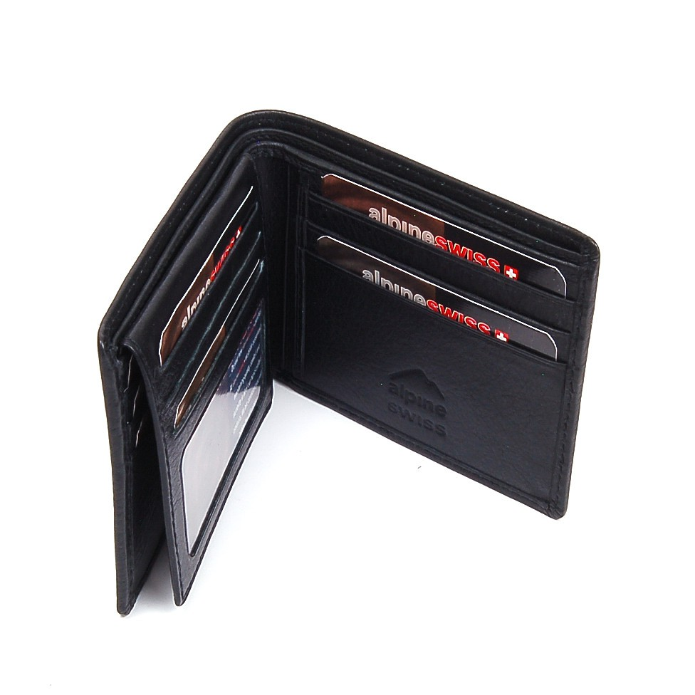 Mens leather wallet flip up id window 11 card slots 2 bill for 2 id window wallet