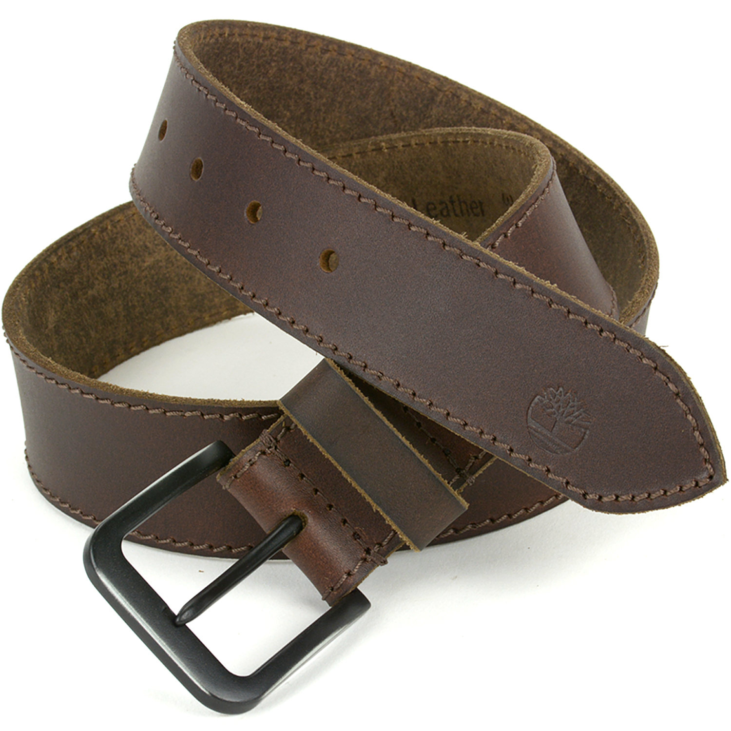 Timberland Men's Belt Genuine Leather Top Stitched Matte ...
