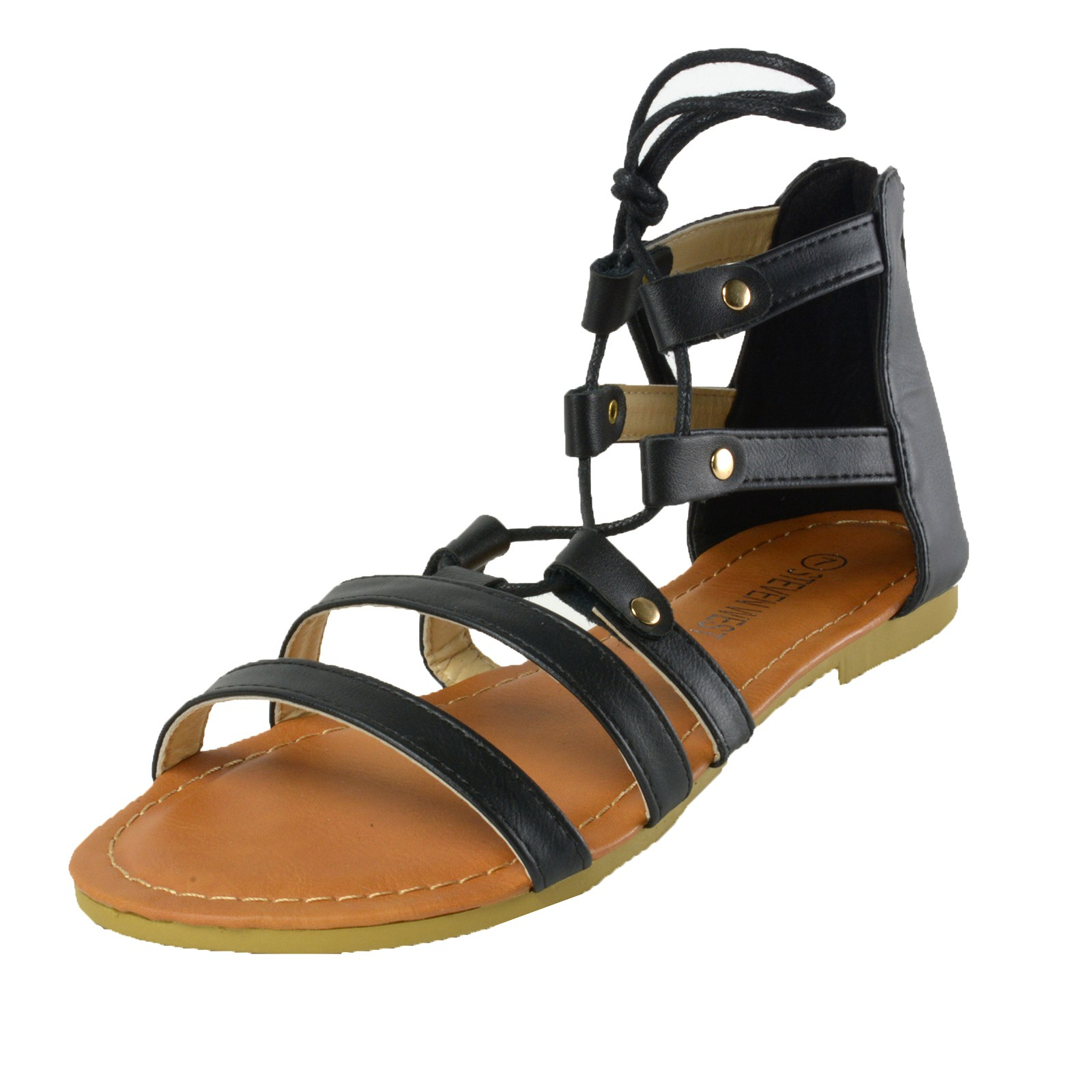 Womens sandals that zip up the back - Stand Out In The Crowd With These Stylish Lace Up Strappy Gladiator Flat Sandals The Trendy Lace Up Design Makes Them Truly Unique And An