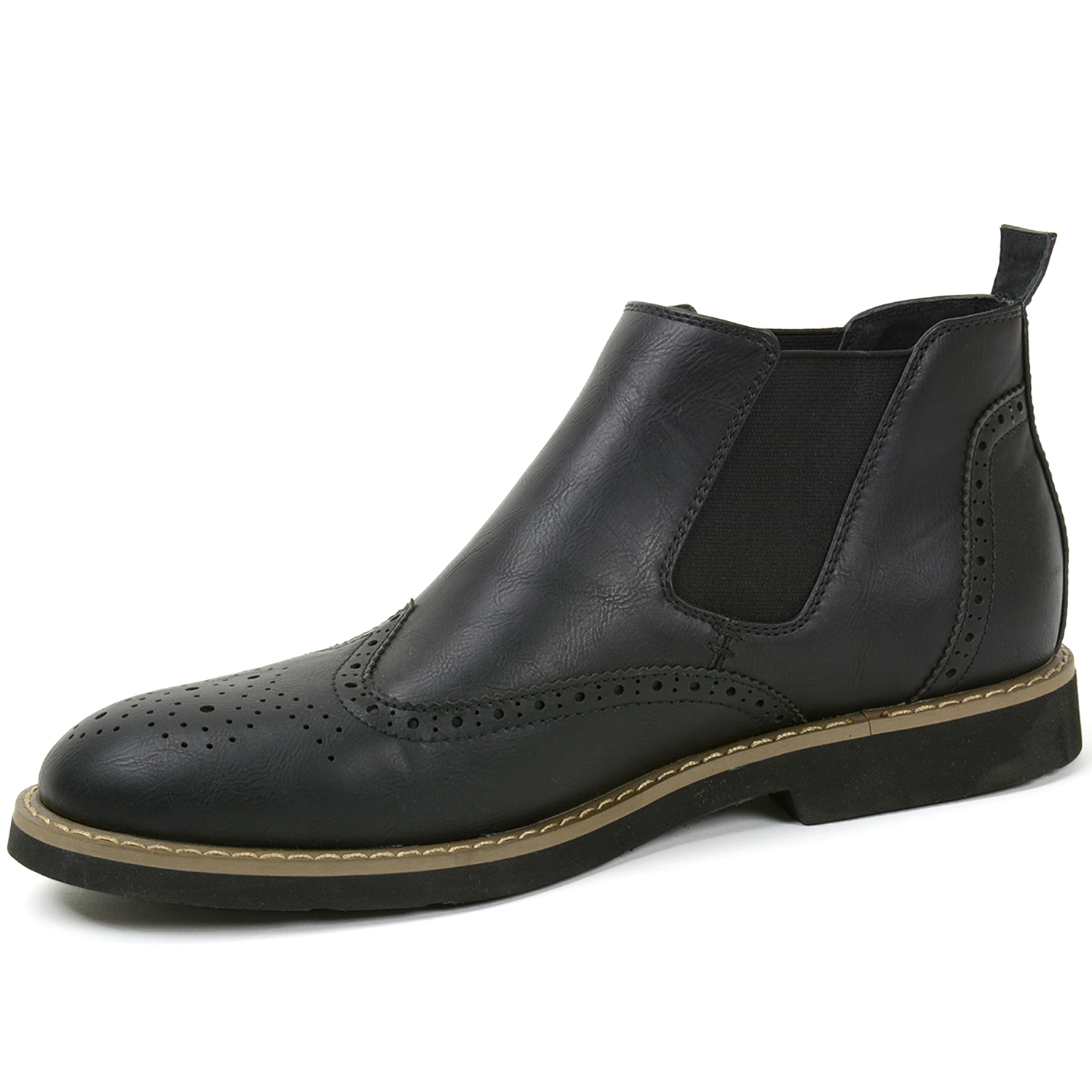 AlpineSwiss Bulle Mens Ankle Boots Chelsea Brogue Medallion Wing ...