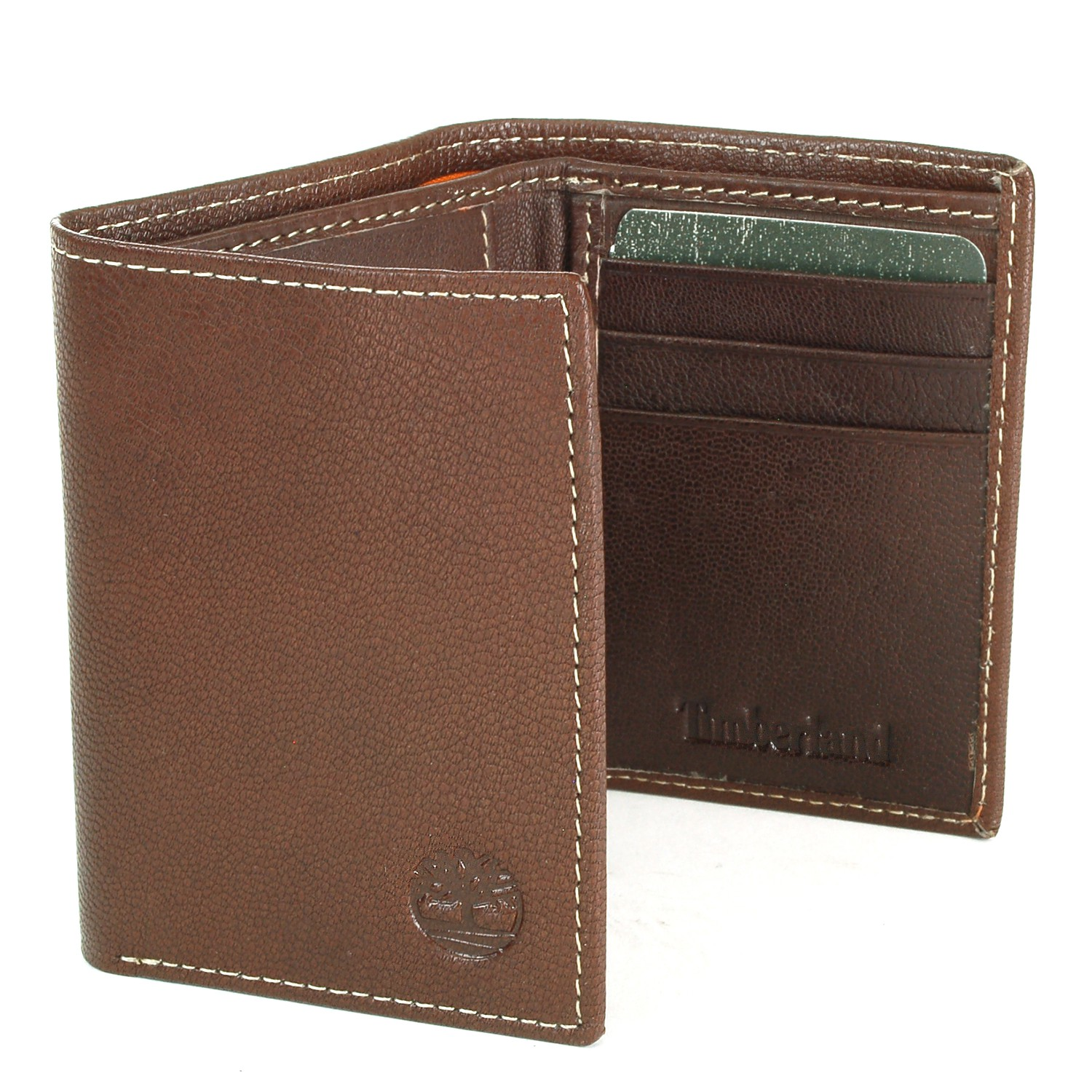 Timberland Men's Slim Trifold Wallet Soft Genuine Leather ID Card Slots Gift Box