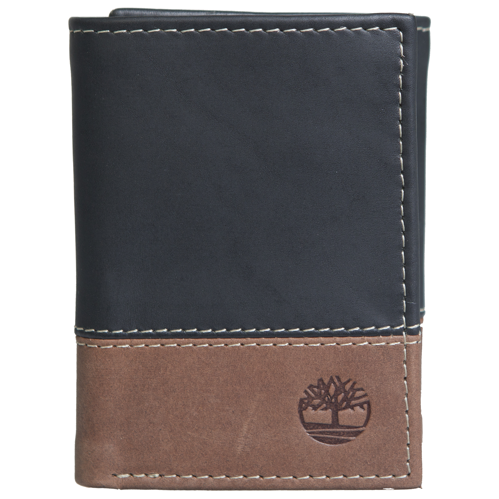Timberland Mens Wallet Trifold Genuine Leather Separated Double Bill Section New
