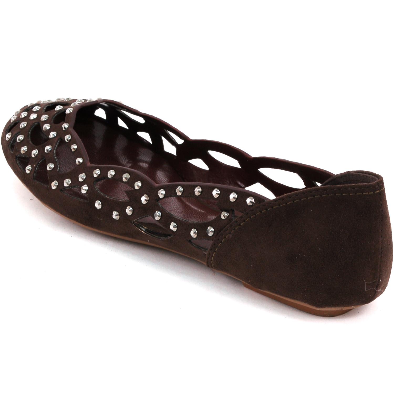womens velvet ballet flats slip on shoes rhinestones cut