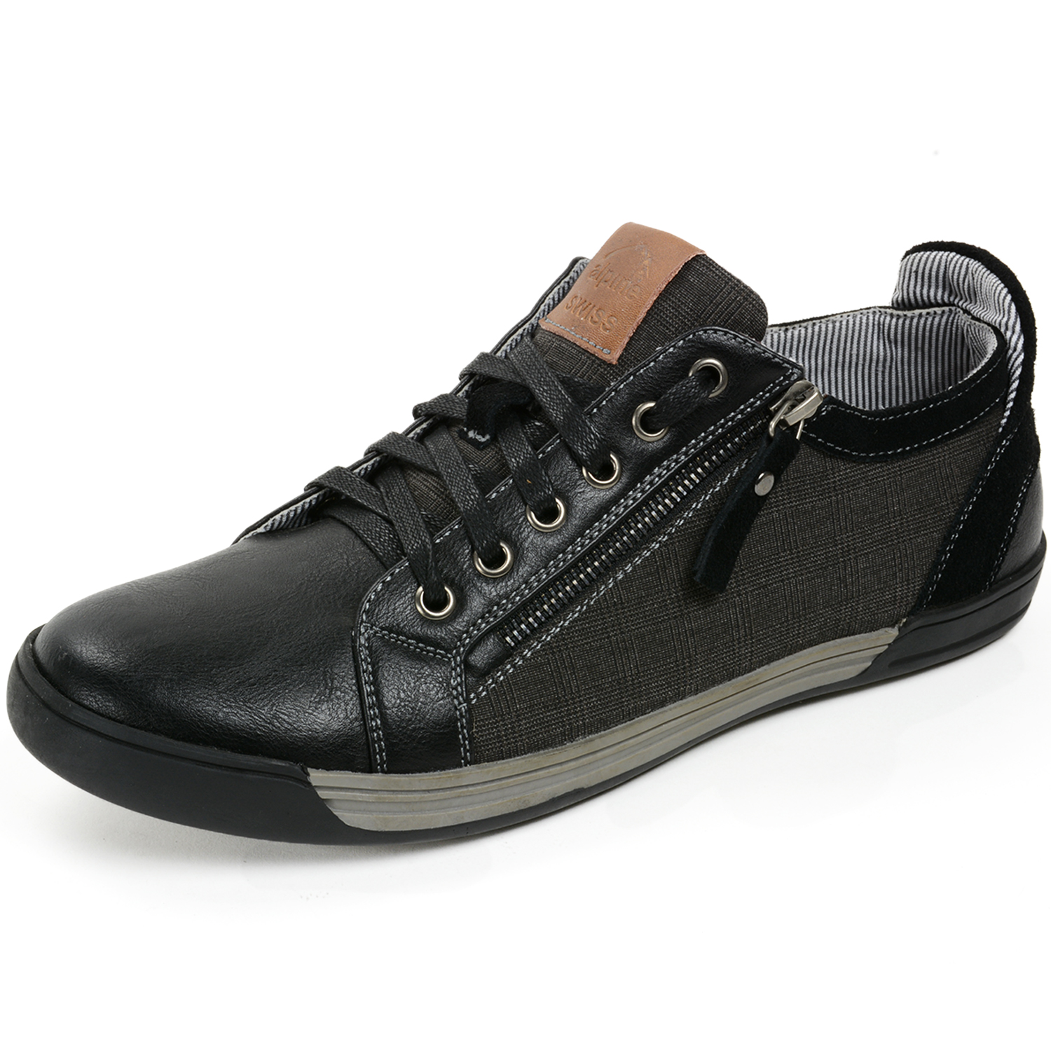 alpine swiss fabian mens casual sneakers low top lace up