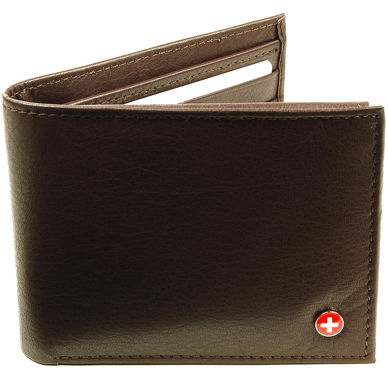 Alpine Swiss Men's Deluxe Wallet Genuine Leather 14 Pocket ...
