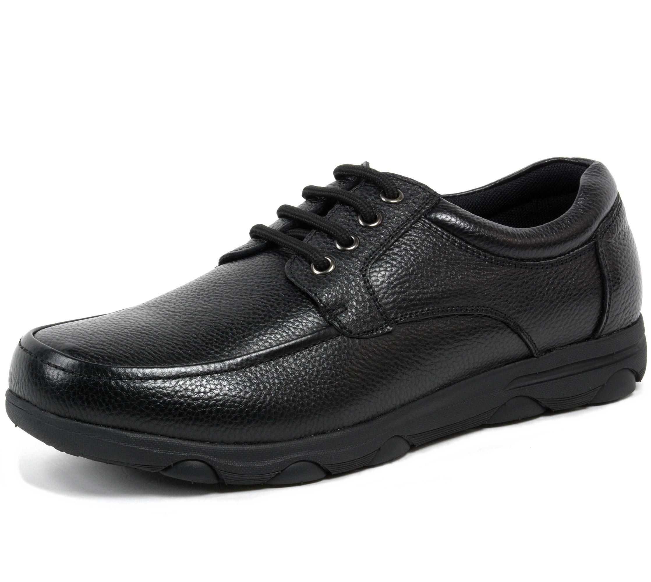 alpine swiss garson mens leather work shoes slip