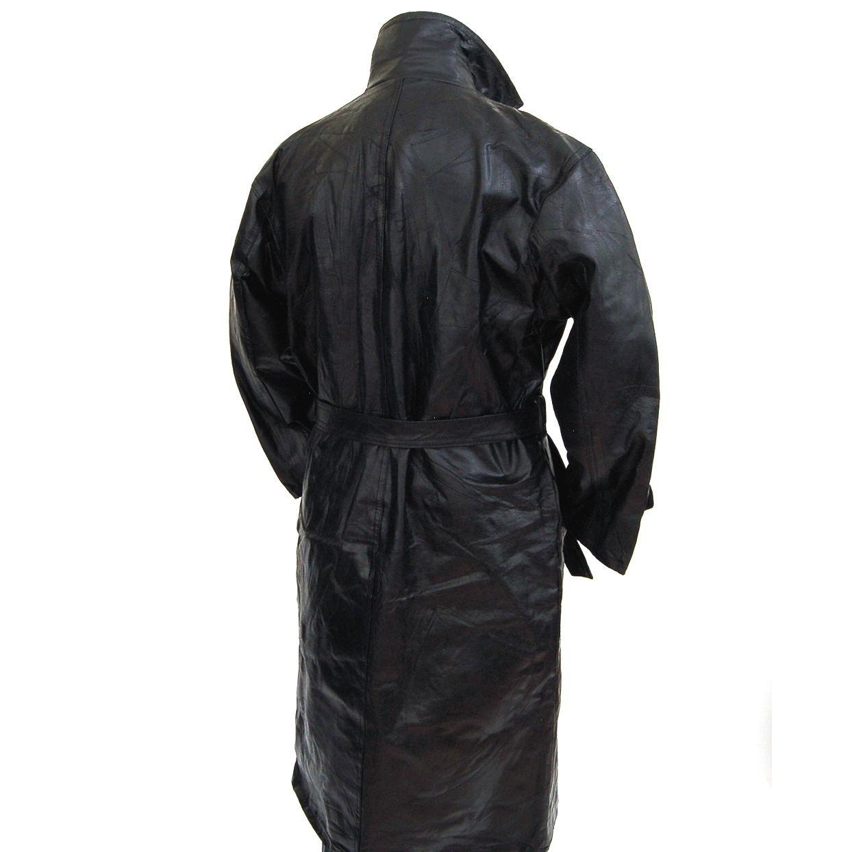 Longer length leather jacket