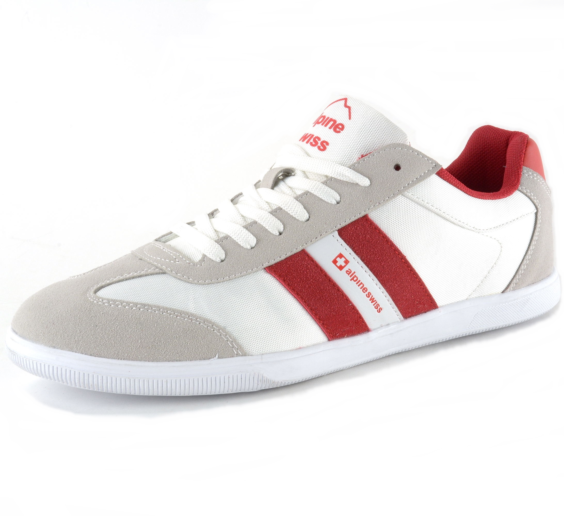 Alpine Swiss Haris Mens Retro Striped Athletic Shoes ...