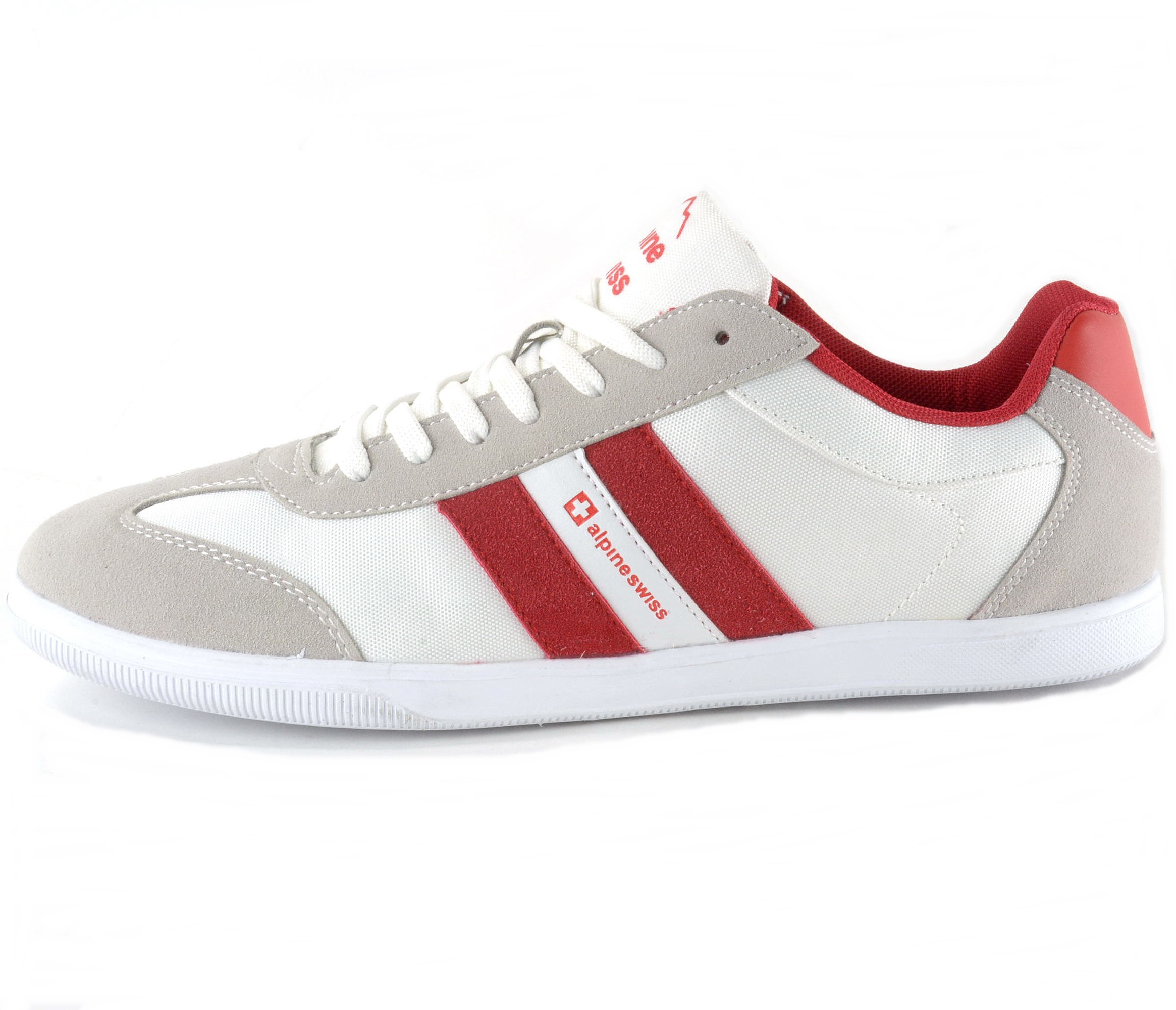 Alpine Swiss Haris Mens Retro Striped Athletic Shoes ...