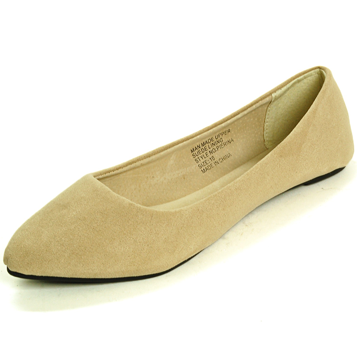 Alpine Swiss Lilly Women's Ballet Flats Pointed Toe Suede ...