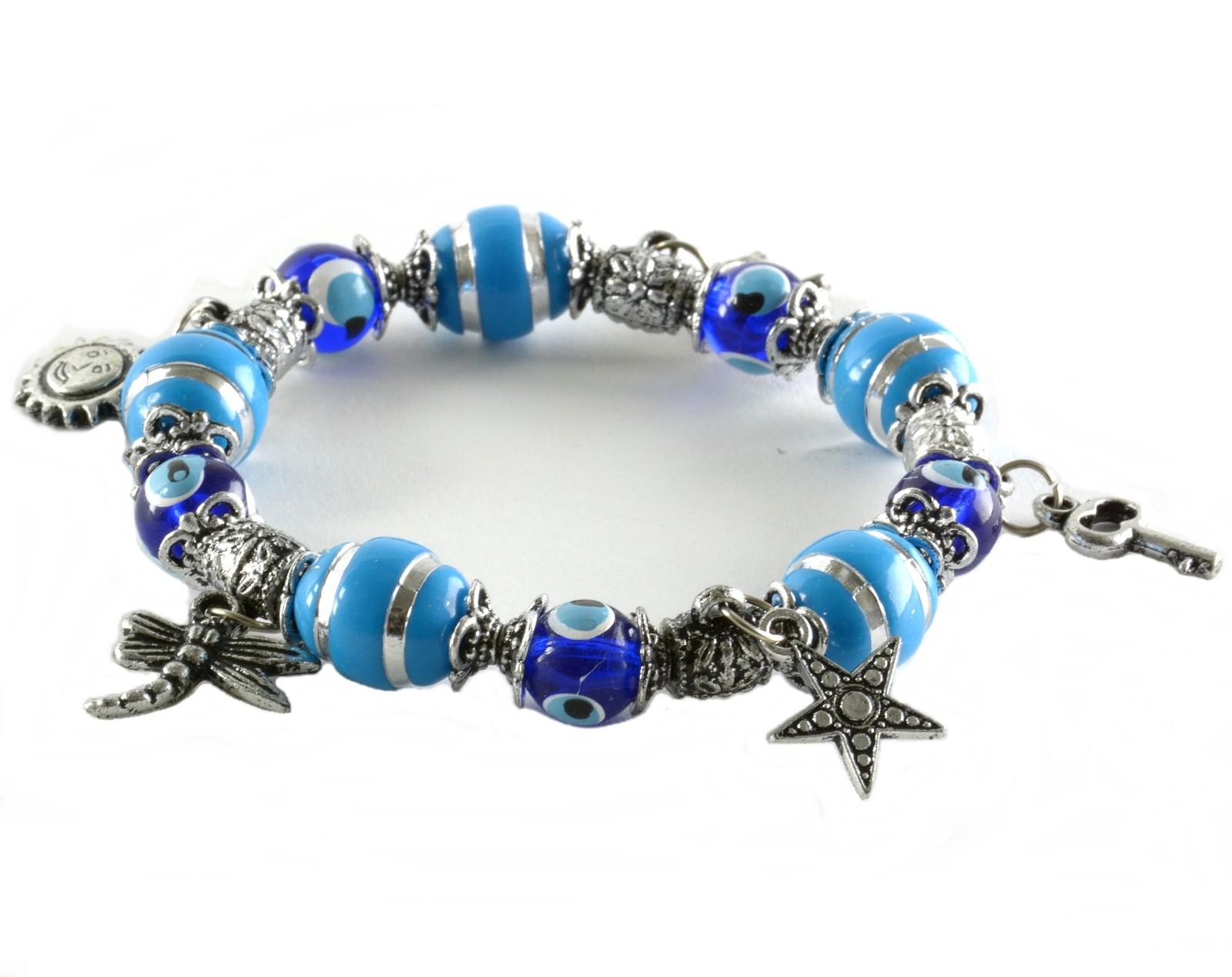 charm bracelet evil eye good luck beads nazar boncuk charms ebay. Black Bedroom Furniture Sets. Home Design Ideas