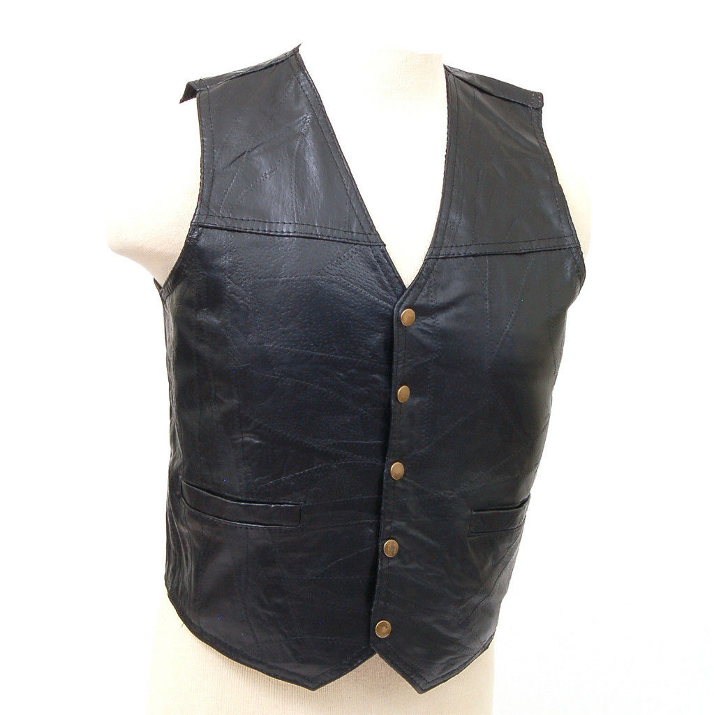 Genuine Leather Vest Motorcycle or Dress Inside Chest ...
