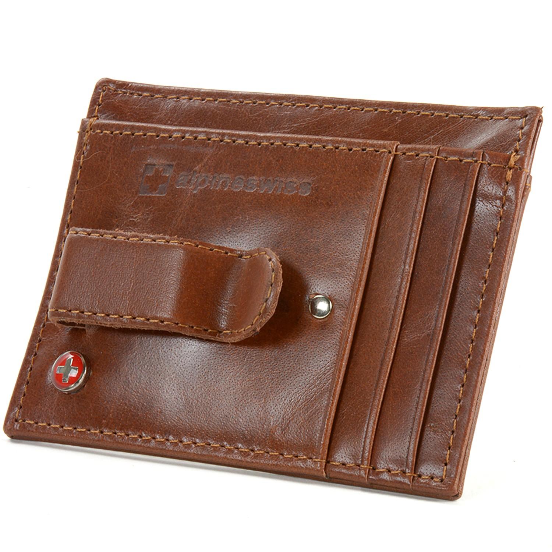 designer money clip wallet p4qc  Alpine-Swiss-Mens-Money-Clip-Genuine-Leather-Minimalist