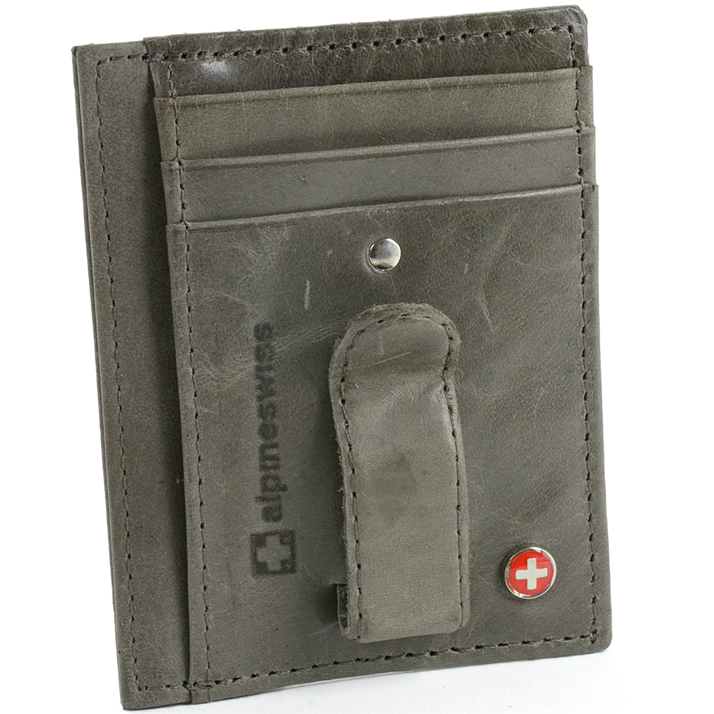 Alpineswiss Rfid Blocking Mens Money Clip Leather
