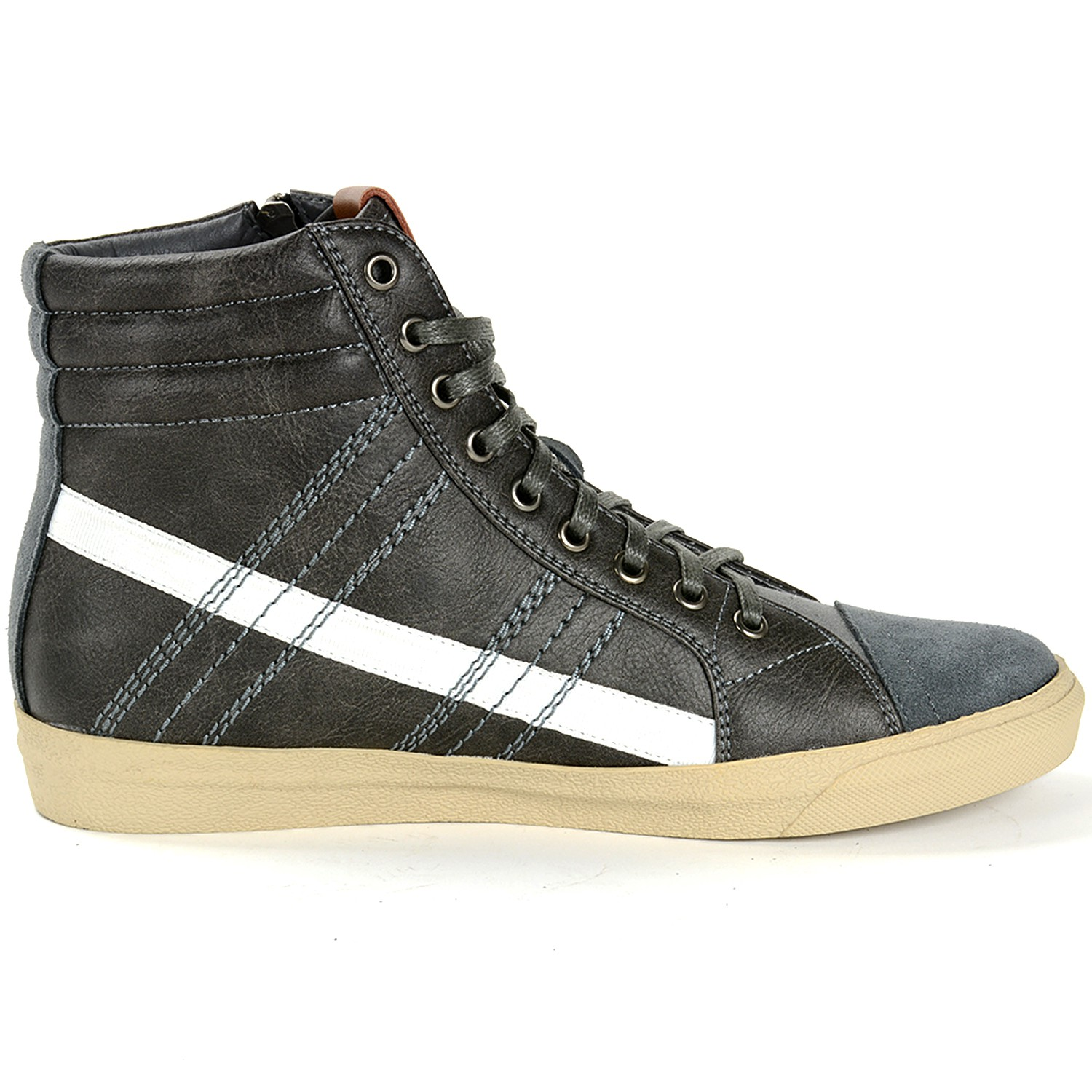 Alpine Swiss Reto Mens High Top Sneakers Lace Up & Zip ...