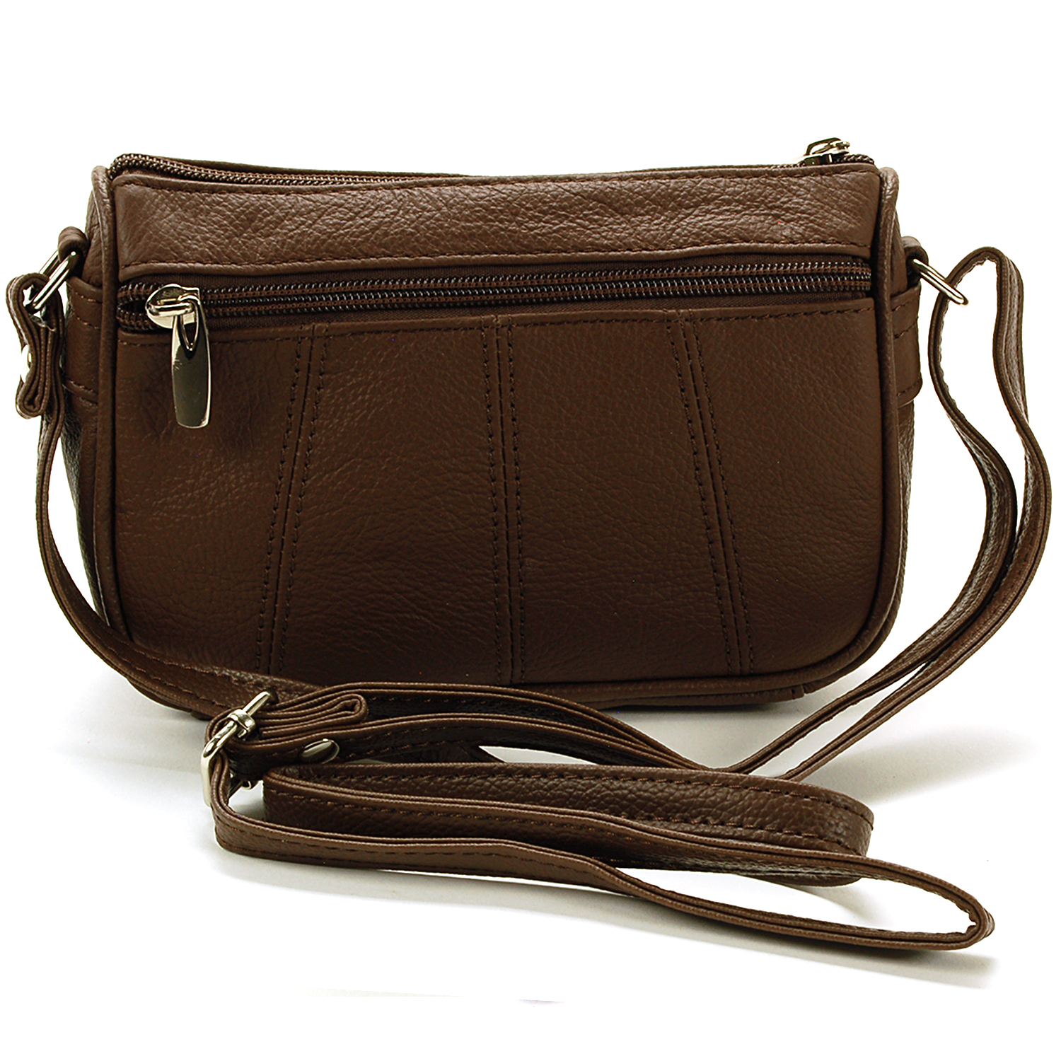 Women's Leather Purse Cross Body Bag Adjustable Strap Tote ...