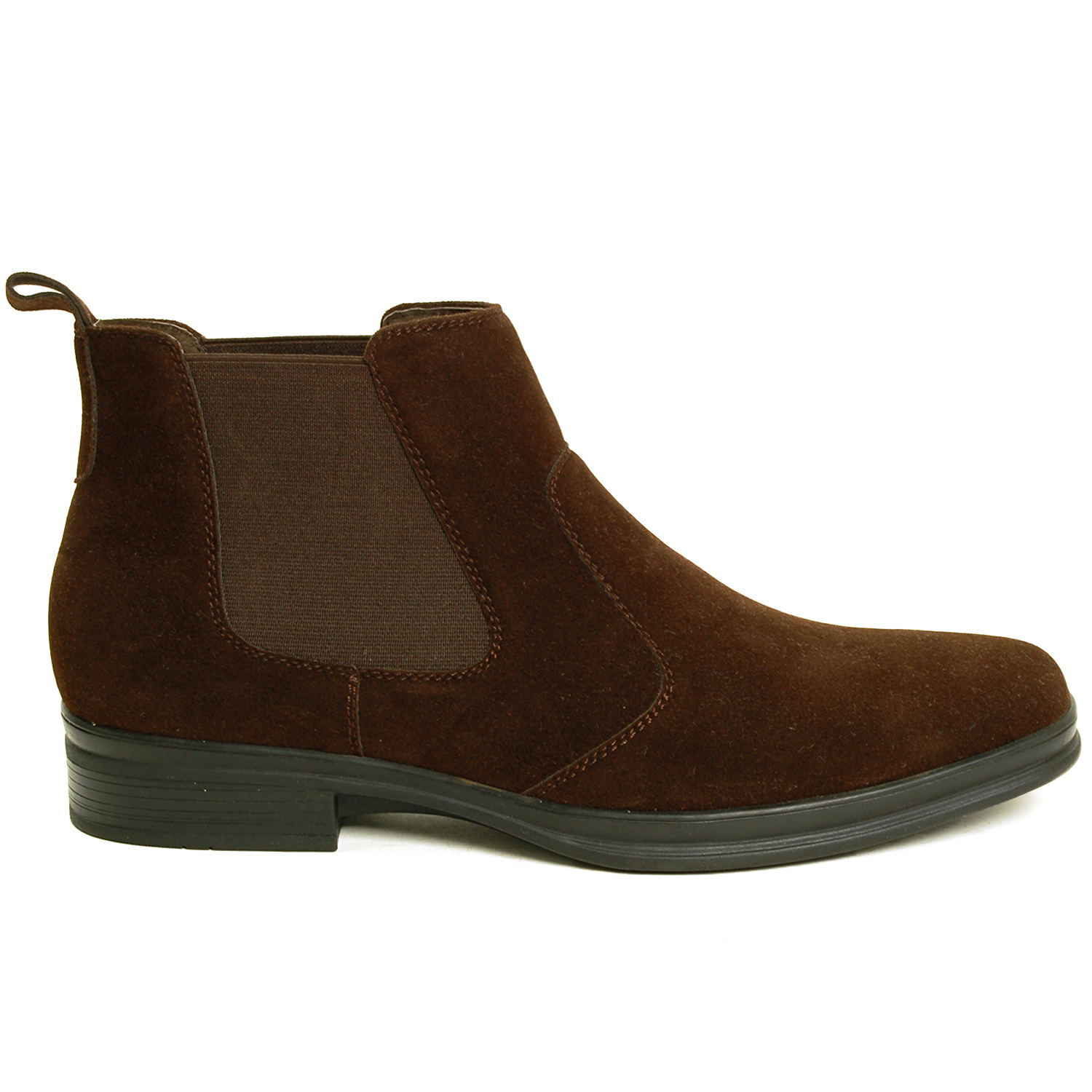 Alpine Swiss Sion Men's Chelsea Boots Dress Ankle Loafer Breathable Suede Lining