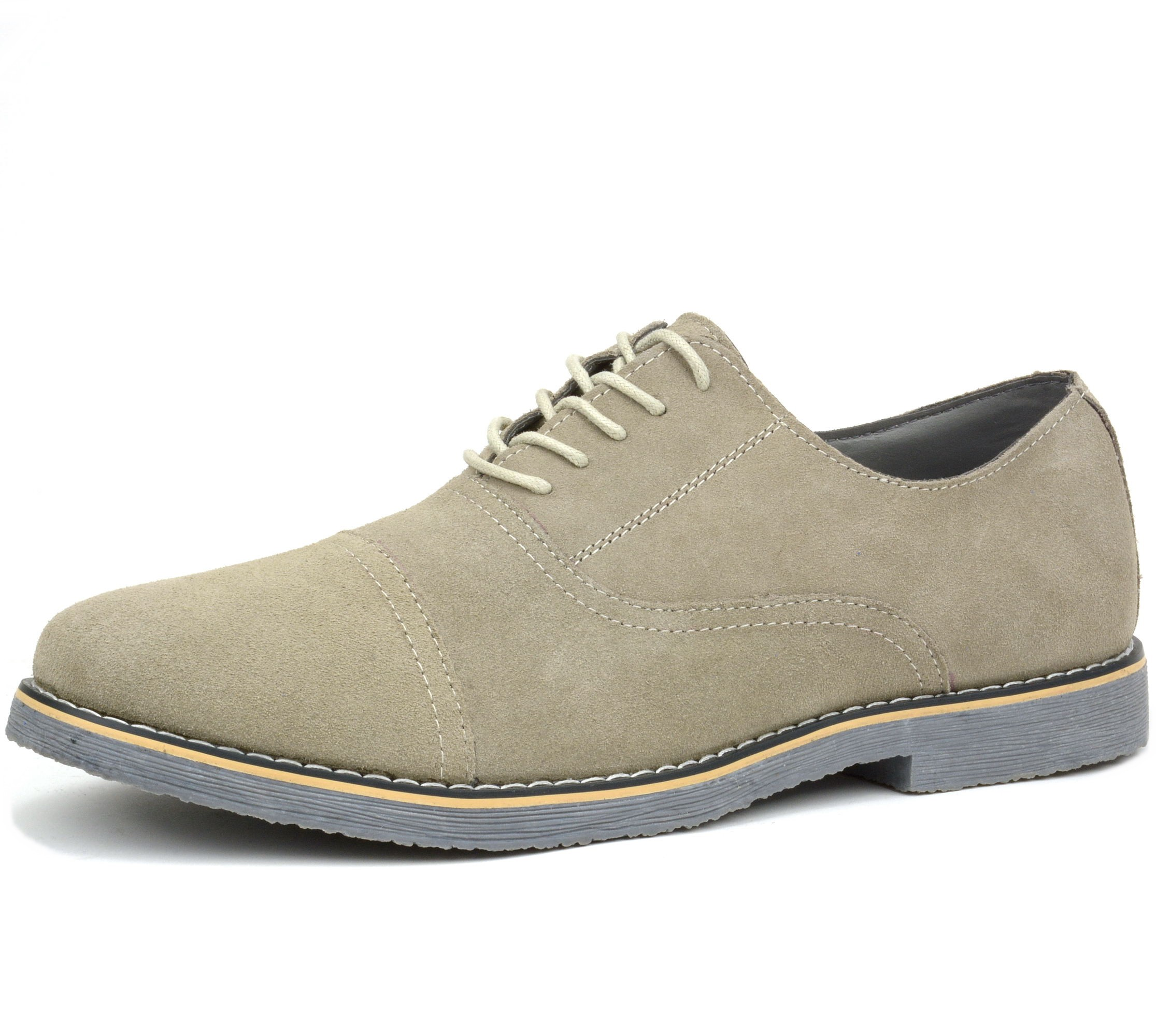 Supple Suede lace-up Spectator Oxford from Mezlan's collection features a Wingtip design features decorative perforations, a clean welt, and a full Leather sole!