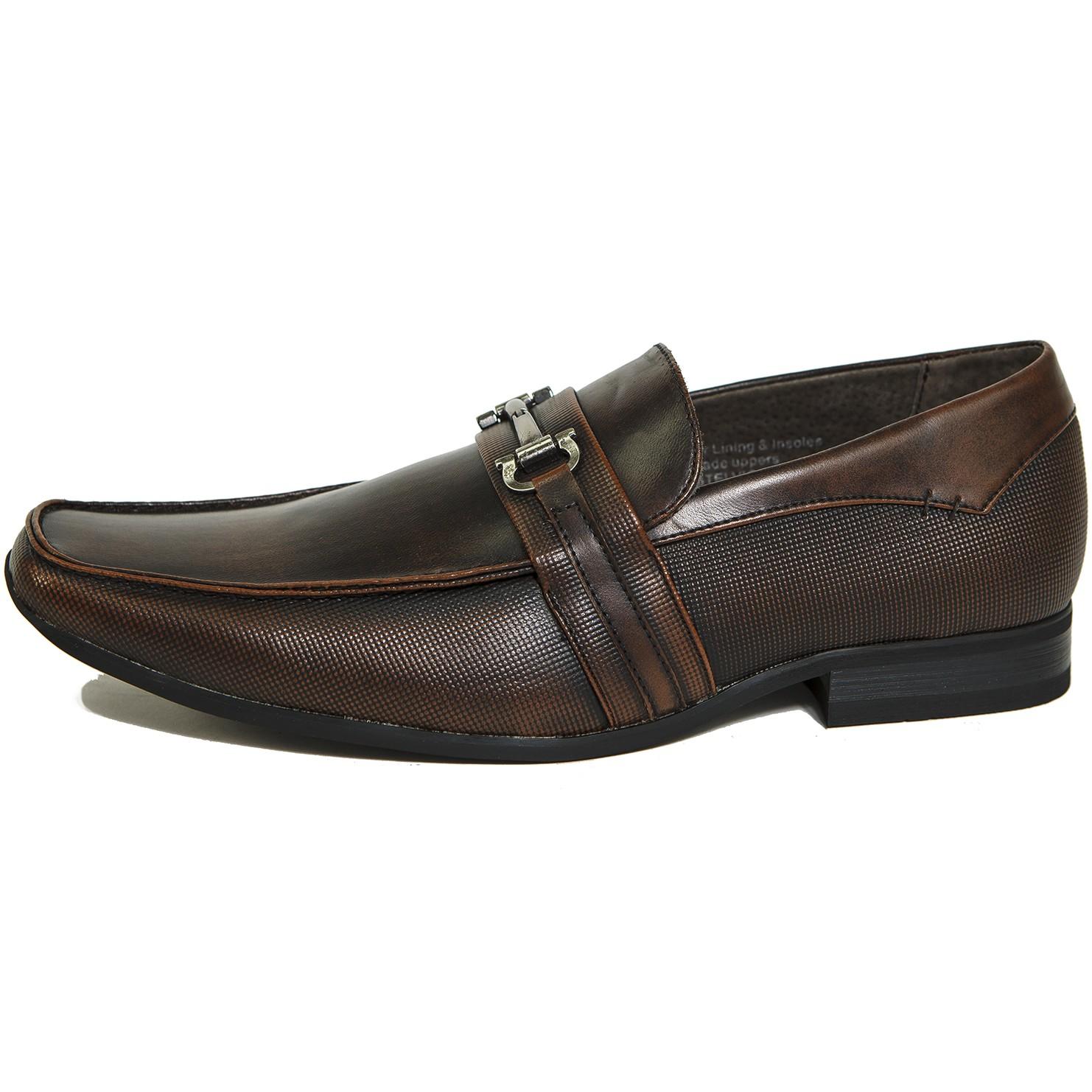 alpine swiss stelvio mens buckle loafers slip on tapered