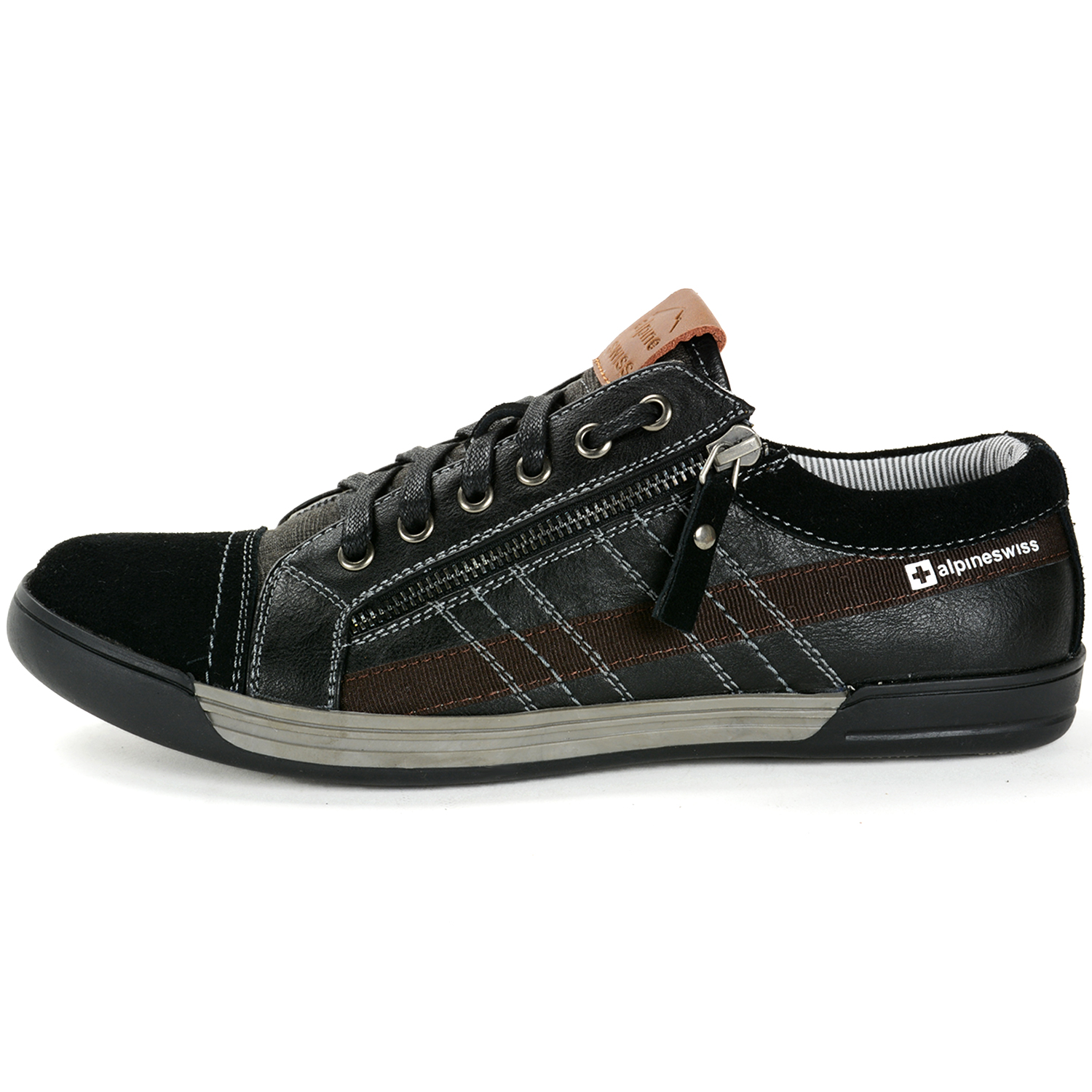 Alpine Swiss Valon Mens Fashion Sneakers Low Top Dress or ...