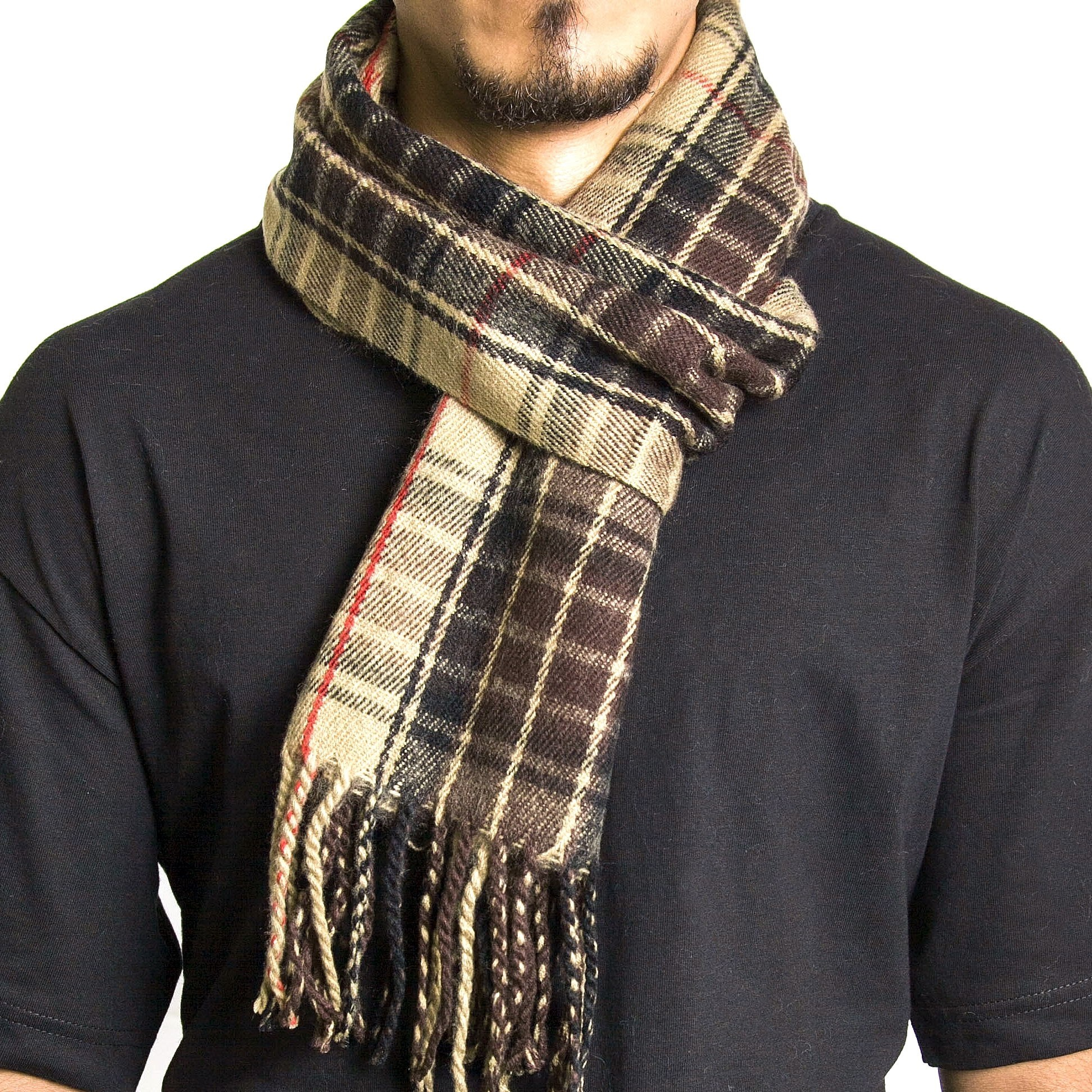 alpine swiss mens scarves winter scarf plaid stole