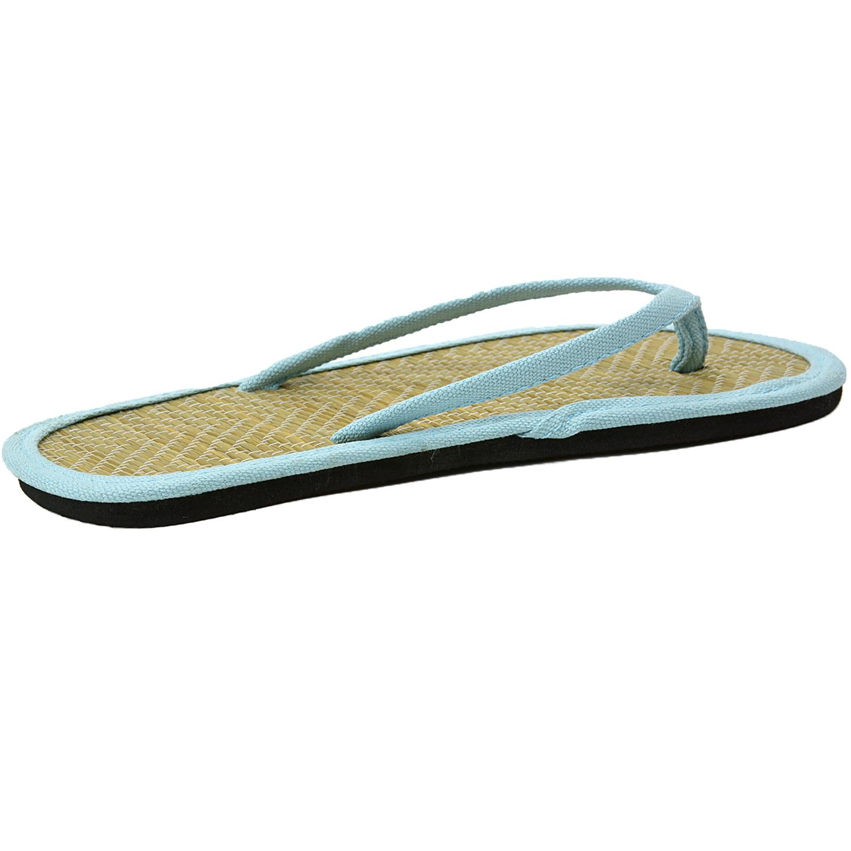 womens bamboo sandal flip flops light flats beach summer. Black Bedroom Furniture Sets. Home Design Ideas
