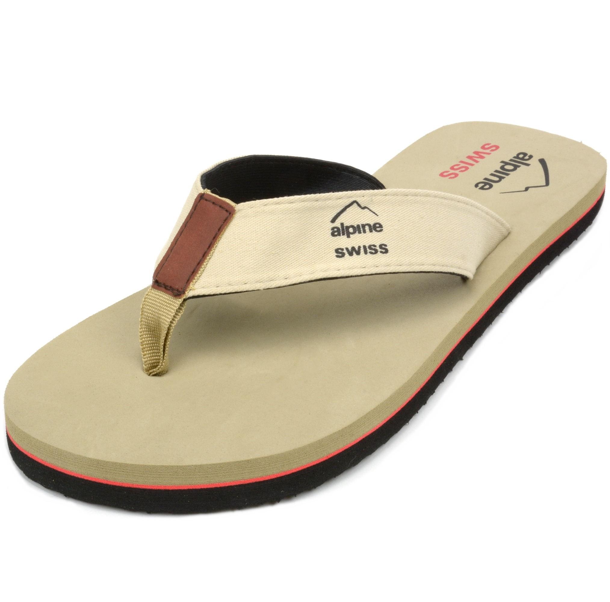 Alpine Swiss Men's Flip Flops Beach Sandals Lightweight ...