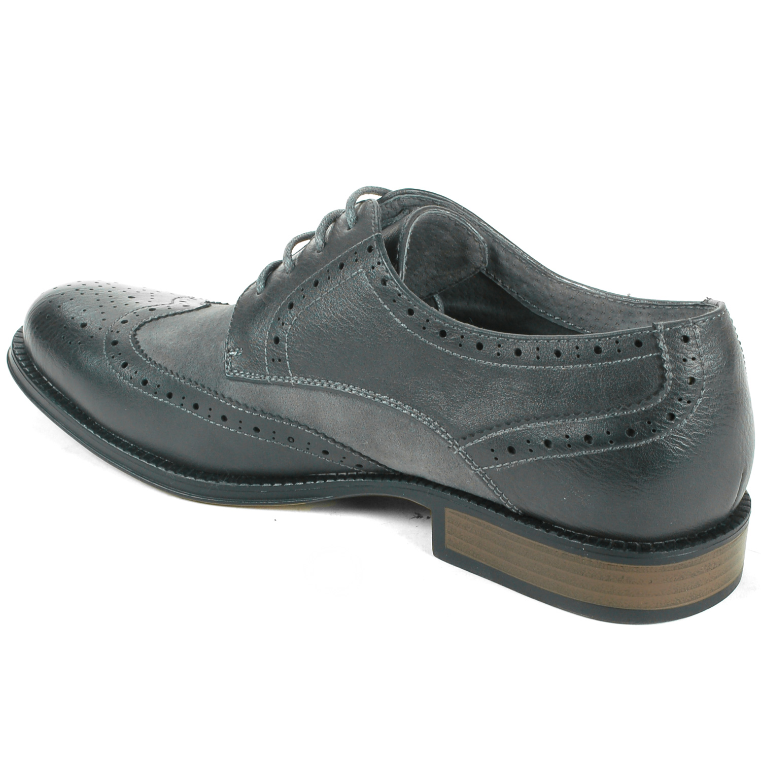 alpine swiss zurich s wing tip dress shoes two tone