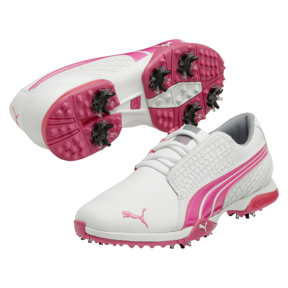 biofusion s golf shoes white fluorescent pink