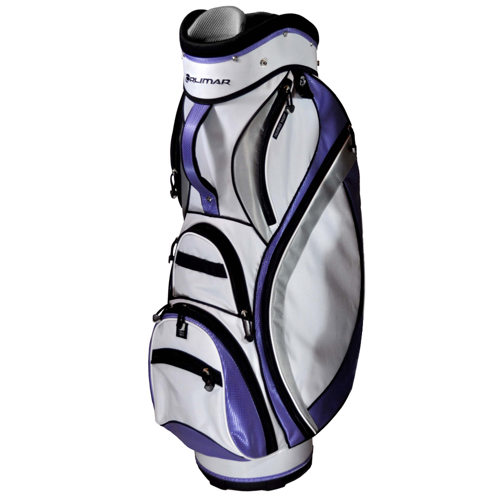 PurpleSilverWhite 14-compartment top Tee, glove, towel, and umbrella ...