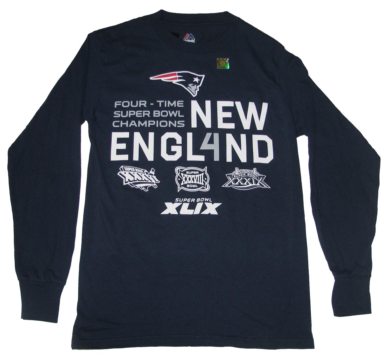 Trenz Shirt Company New England Patriots 4X Champs Super Bowl XLIX T-Shirt