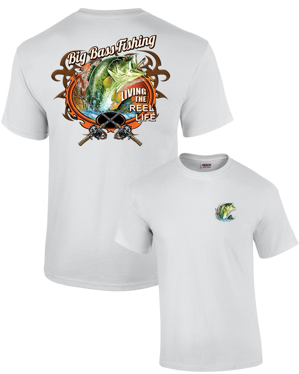 Fishing t shirt big bass fishing for Bass fishing shirt