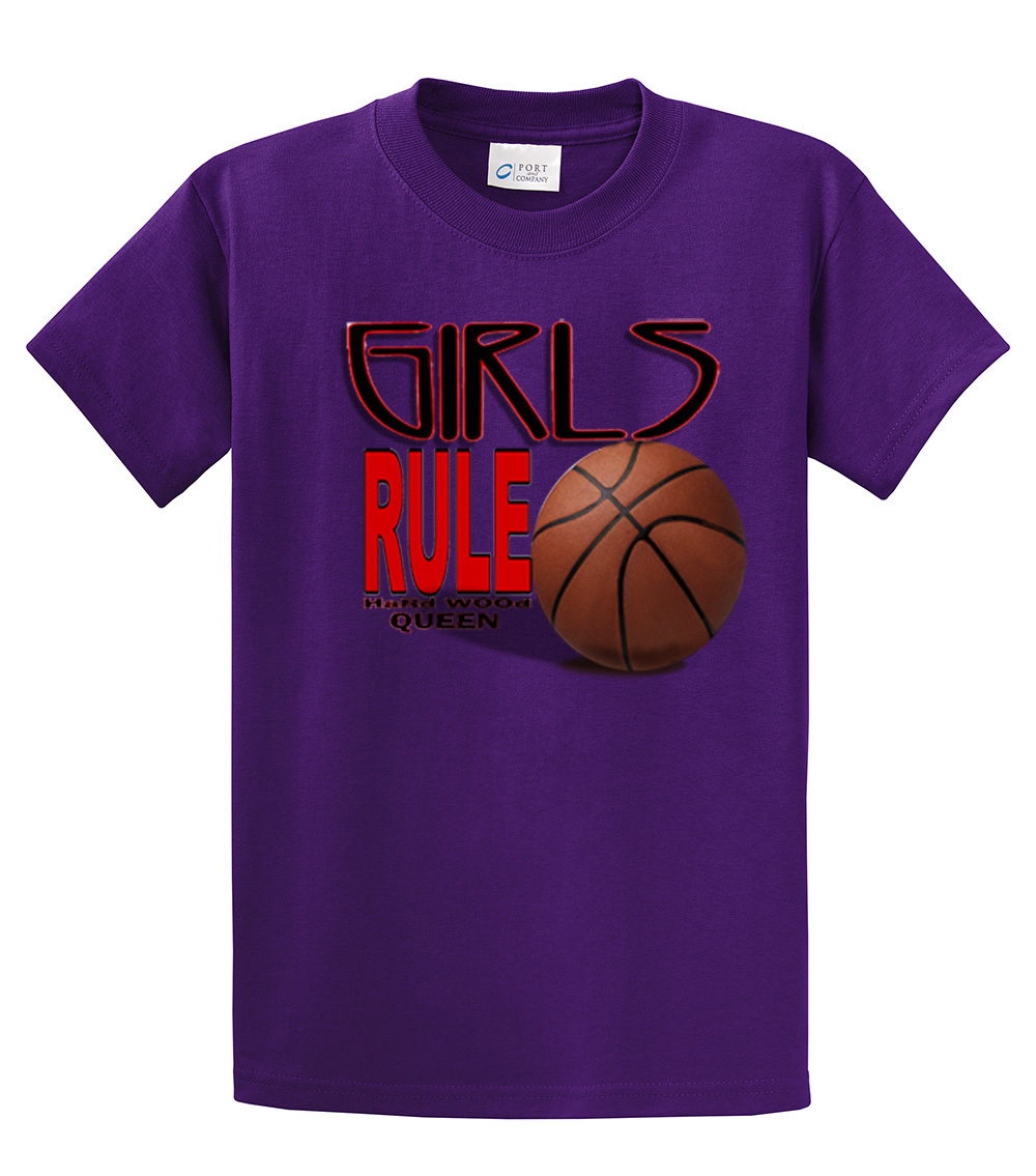 basketball t shirt girls rule hardwood queen youth t shirt